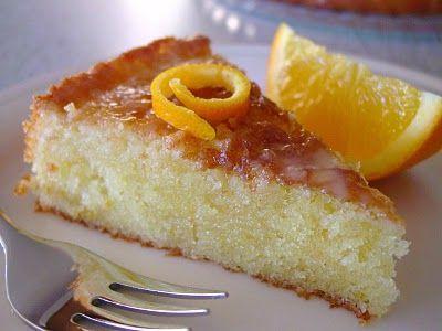 Orange Cake - 1 cup (2 sticks) unsalted butter, room temp.,1 cup granulated sugar, 4 eggs, 1 1/2 tsp. grated orange zest, 2 cups all purpose flour, 1 Tbsp. baking powder, 1 tsp. salt, 7 Tbsp. fresh squeezed orange juice..