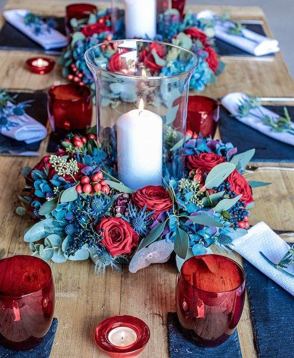 25Ispirazione per un matrimonio invernale rustic chic in rosso e blu25