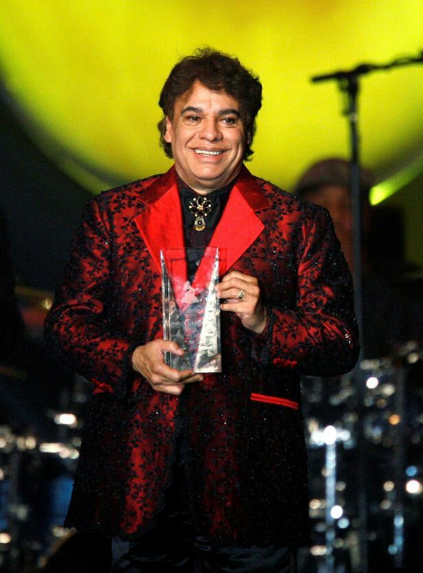 Juan Gabriel at one of his final concerts at The Forum on Aug. 26. Mexican singer and icon Alberto Aguilera Valadez, best known as Juan Gabriel, died from a heart attack on Sunday around 11:30 a.m. in Santa Monica, California, Univision reports. He was 66.