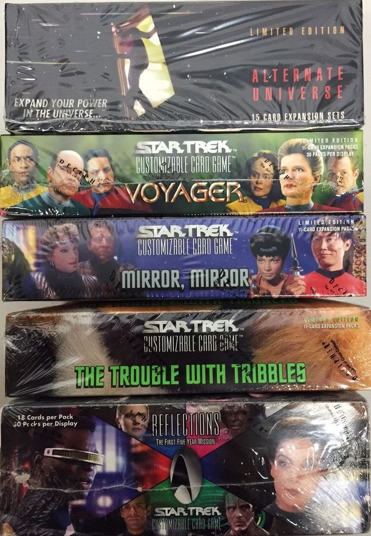 CCG Individual Cards 183454: Star Trek Ccg 5 Booster Box Lot : Reflections, Voyager, Au, Mirror And Tribbles -> BUY IT NOW ONLY: $159.75 on eBay!