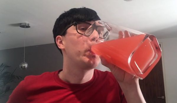 """Is this glass large enough?"" (That looks like a vase) A HUNGRY Sleepless Night With Phil"