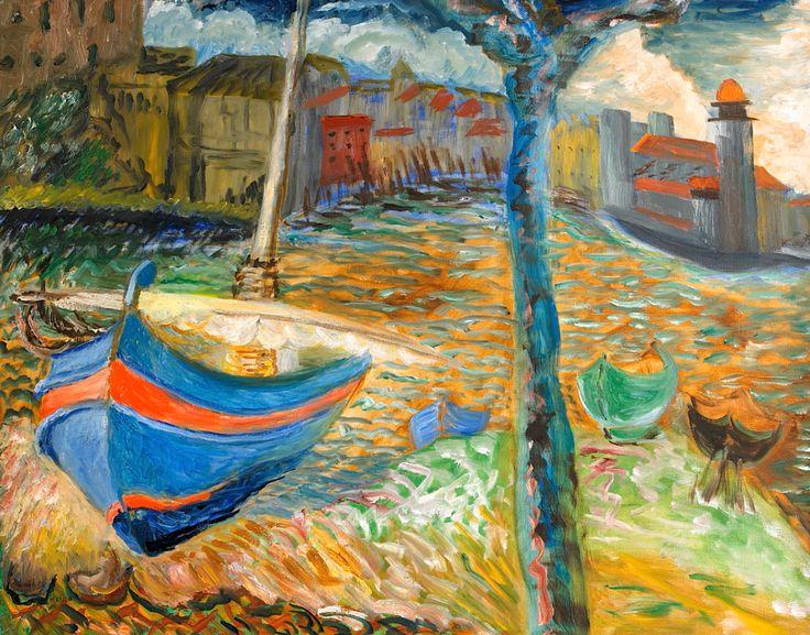 SIGRID HJERTÉN 1885-1948 The Blue Boat, Collioure
