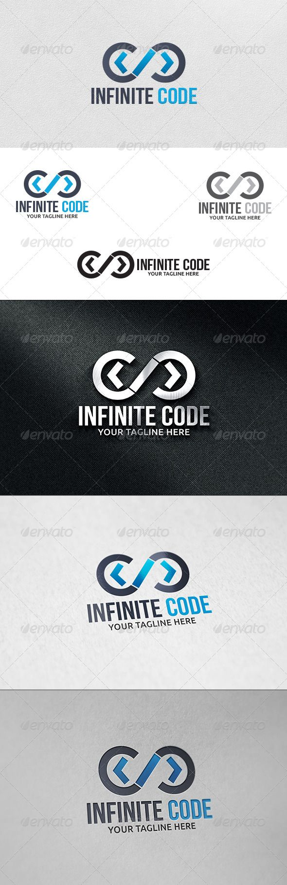 Infinite Code  - Logo Design Template Vector #logotype Download it here: http://graphicriver.net/item/infinite-code-logo-template/6159540?s_rank=520?ref=nesto