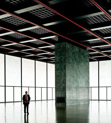 Neue Nationalgalerie Kulturforum/ Museum for Modern Art. Berlin.  Ludwig Mies van der Rohe 1968.