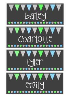 These ocean flag name tags make any classroom light and bright. Use them as locker tags, bag tags or even desk plates. They come editable too so you can add your own students names. Don't forget to check out the rest of the matching set for your classroom!