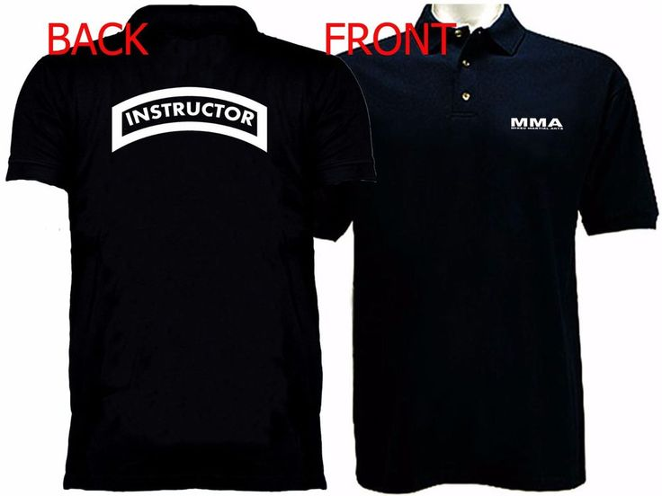 Mixed Martial Arts  Instructor Self Defense polo style buttoned black t-shirt #Unbranded #GraphicTee