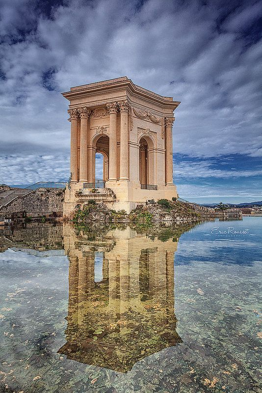 Château d'eau - Jardin du Peyrou @ Montpellier, France. When planning to visit France, get a copy of the most complete French phrasebook here: https://store.talkinfrench.com/product/french-phrasebook/
