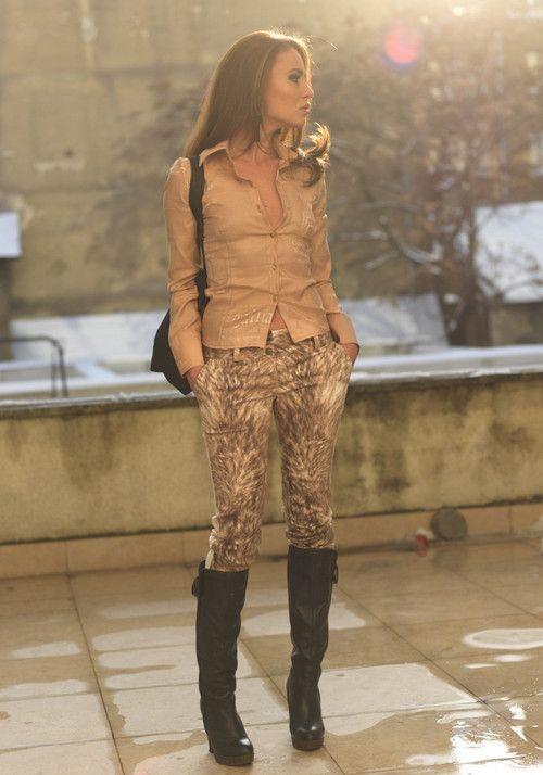 Pantaloni Astrid Caramel