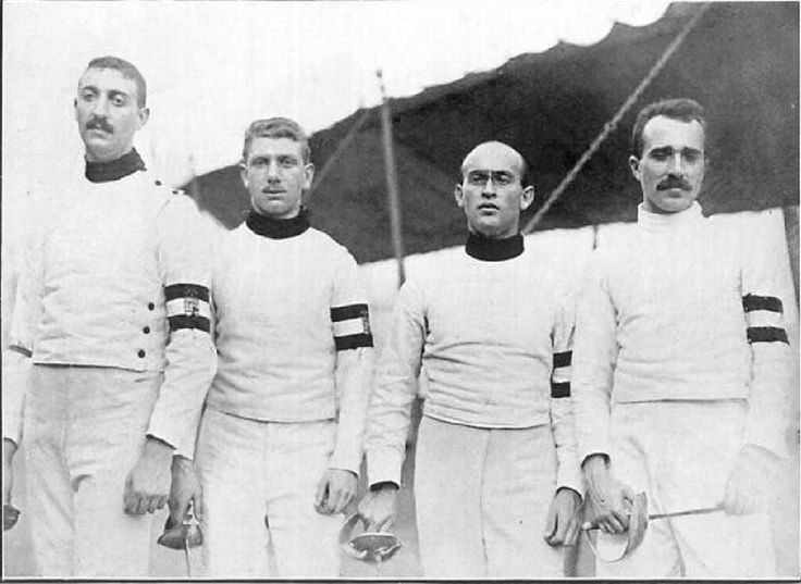 #BackInTime Team Hungary gold medalists in Men's sabre team event @olympics #london1908 @magyarvivas  #ff #fencing #esgrima #escrime #friday by fencing_fie