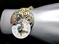 Charming Time Steampunk Bracelet, $110