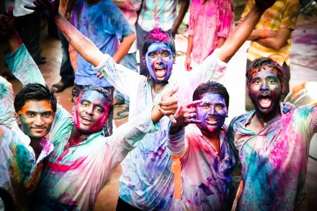 Celebration of life with colours