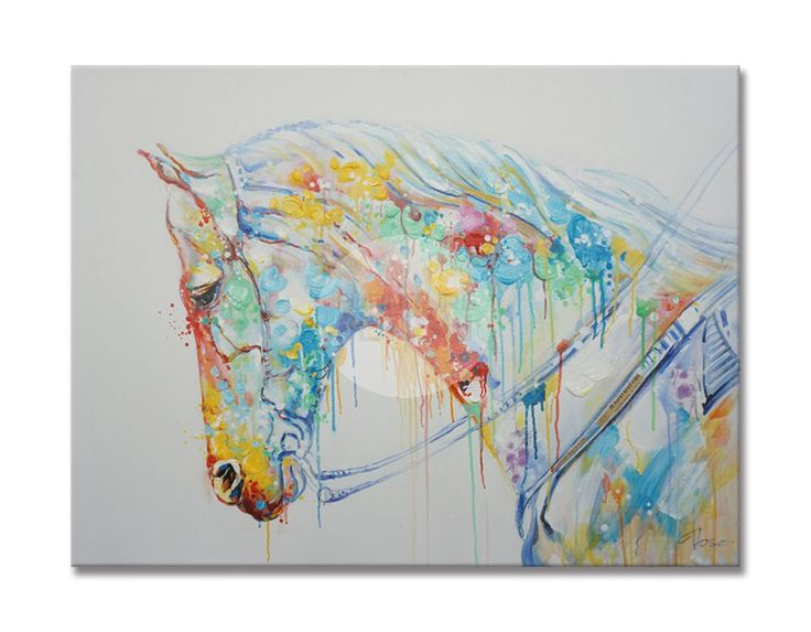 Abstract Horse Oil Canvas 120 x 90cm