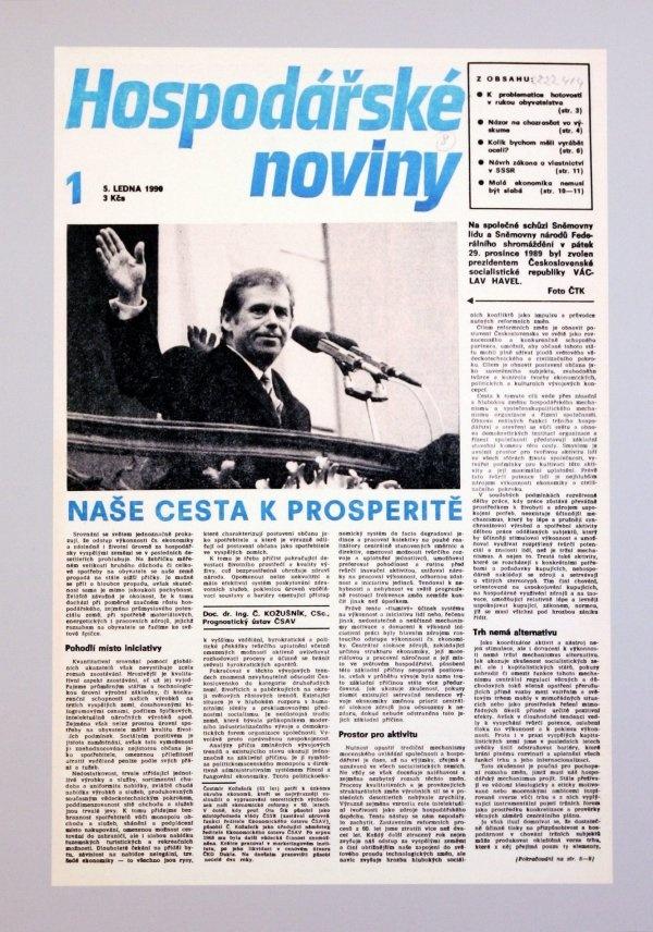 5.1.1990 - První vydání - Václav Havel zvolen prezidentem Československé socialistické republiky