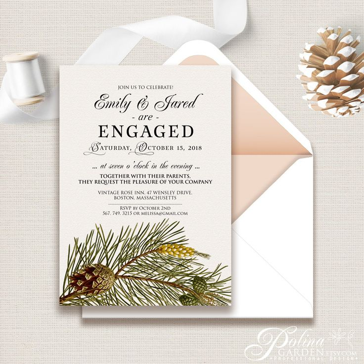 The 25+ best Engagement invitation template ideas on Pinterest - engagement invitation cards templates