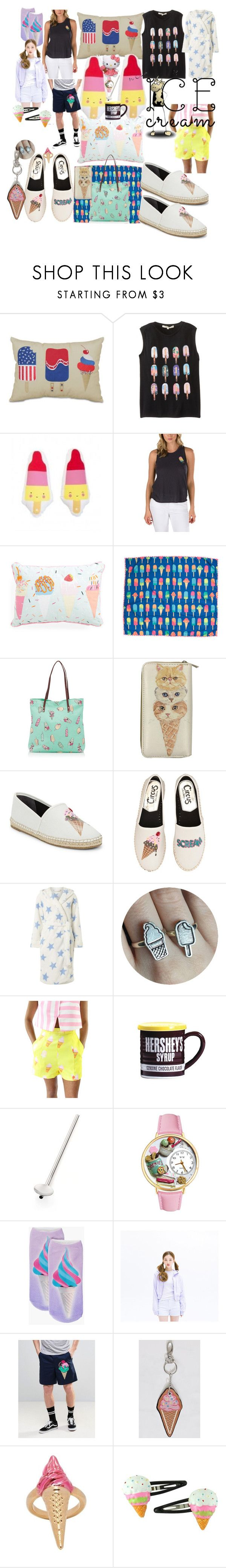"""""""I can finally hear the ice cream man"""" by lerp ❤ liked on Polyvore featuring Arlee Home Fashions, A Little Lovely Company, Vans, Disney, Circus by Sam Edelman, Dorothy Perkins, Hello Kitty, Fitz & Floyd, Crate and Barrel and Boohoo"""