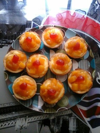 Exquisitas mini tartas de durazno