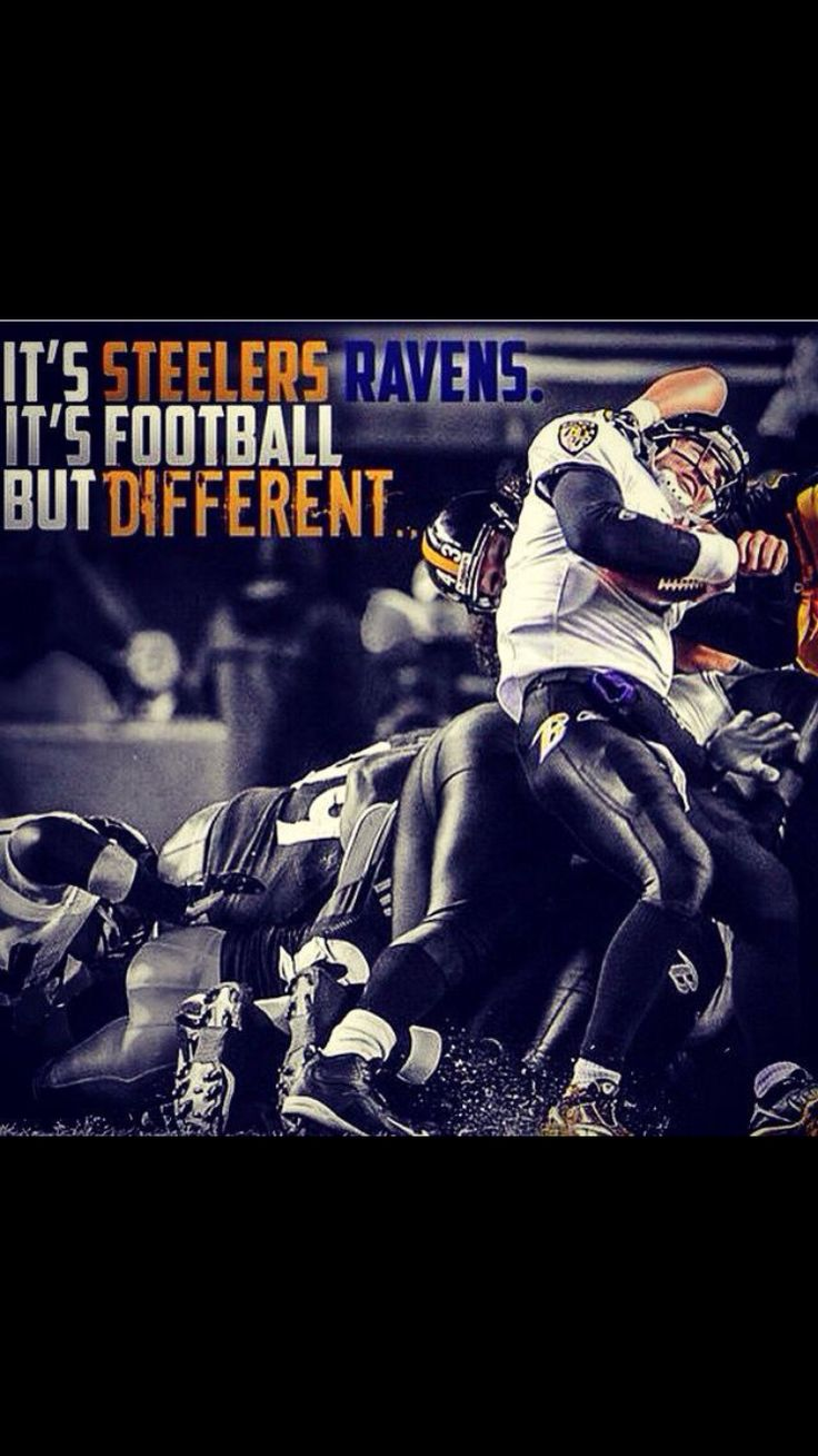 Steeler/ravens rivalry.. They seriously hate each other