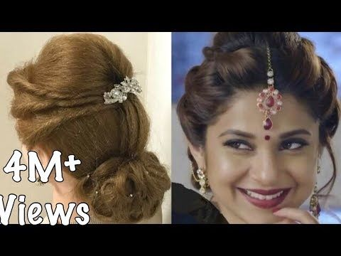 2 Beautiful Hairstyles With Puff Easy Wedding Hairstyles Youtube