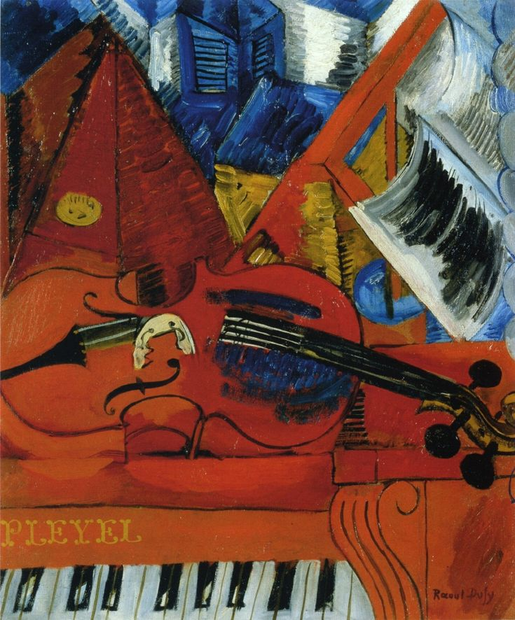"""""""The Violin"""" in 1916 by Raoul Dufy"""