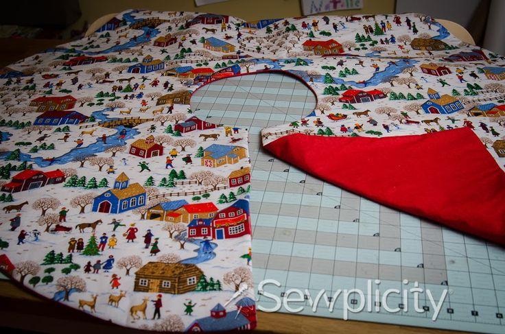 Simple Christmas Tree Skirt - Sewplicity