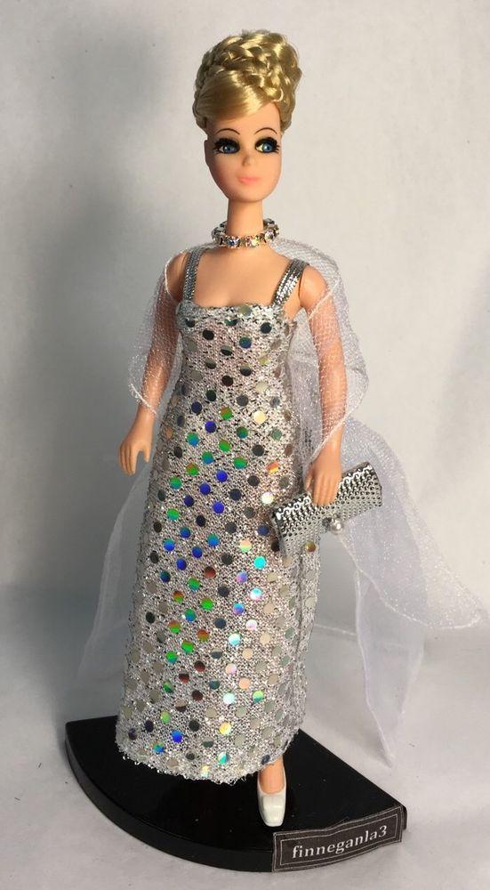 Vintage Topper Dawn Doll Fancy Feet H11C in Dawn Checkerboard Fashion   eBay