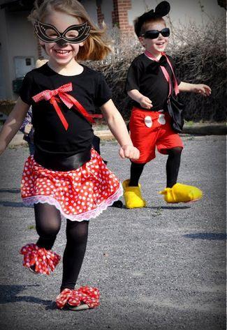 Trucs et astuces pour des déguisements Mickey Minnie faits maison