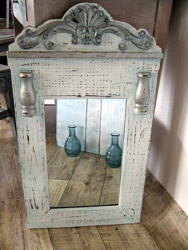 spiegel spiegel shabby chic ein designerst ck von wandeldesign bei dawanda mirror mirror. Black Bedroom Furniture Sets. Home Design Ideas