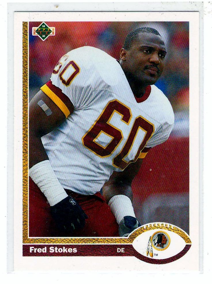 Sports Cards Football - 1991 Topps Fred Stokes