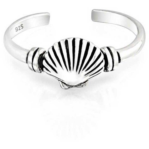 Bling Jewelry Beach Beauty Ring Body Jewelry ($13) ❤ liked on Polyvore featuring jewelry, rings, body jewelry, grey, toe-rings, midi rings jewelry, seashell jewelry, shell ring and body jewellery
