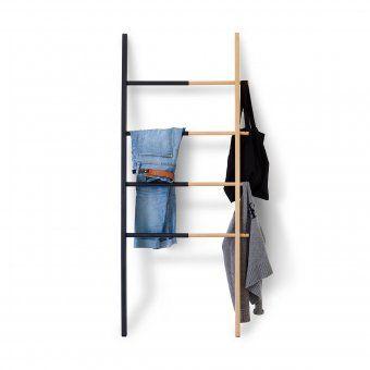 Garderoben-Leiter Hub schwarz