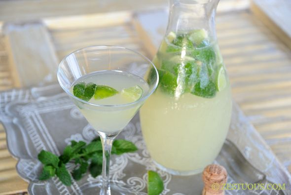 A mojito variation with prosecco.  This sounds so refreshing - I'm hoping I can find a way to scale it down to just two drinks.
