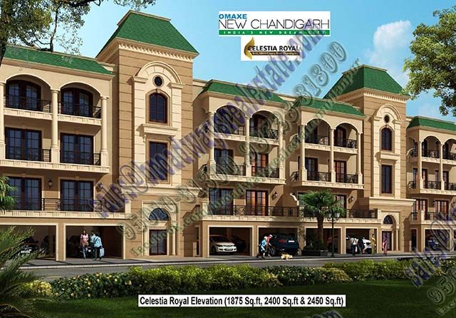 Omaxe Celestia Royal Floors has a 3BHK and 4BHK at Omaxe New Chandigarh. For Details Visit http://broadwaysrealestate.com