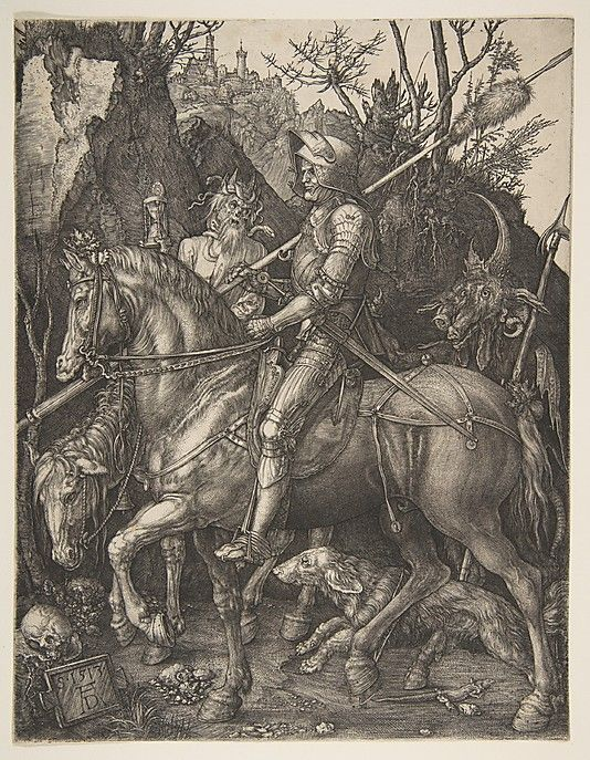 Albrecht Dürer (German, 1471–1528). Knight, Death and the Devil, 1513. The Metropolitan Museum of Art, New York. The Sylmaris Collection, Gift of George Coe Graves, 1920 (20.46.23) #Halloween