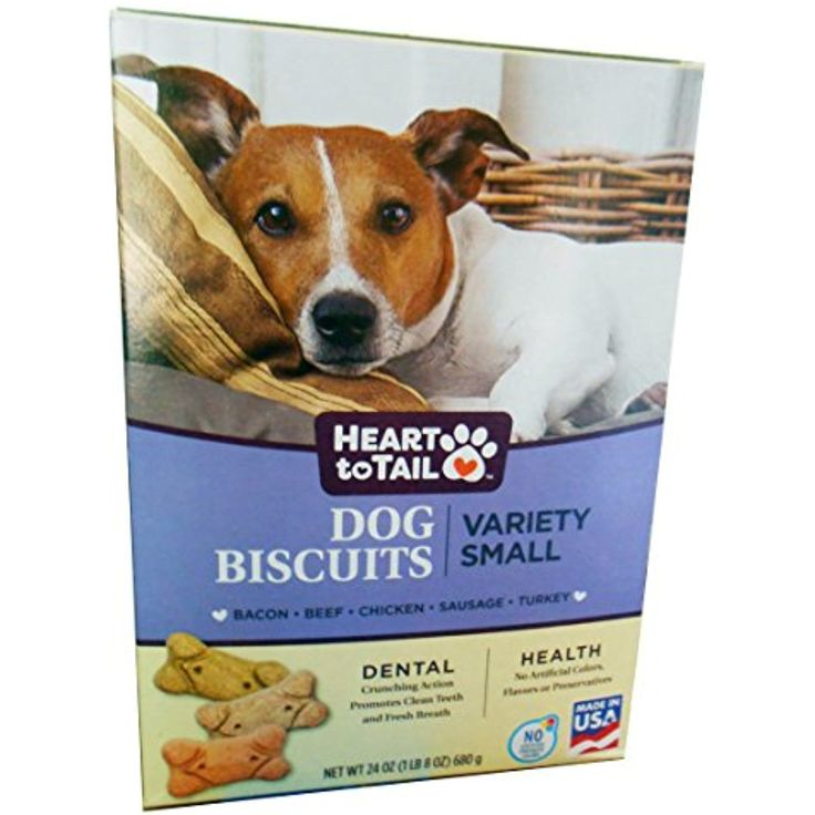 Heart to tail dog biscuits variety small baconbeef