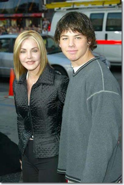 Priscilla Presley and son, Navarone Garibaldi