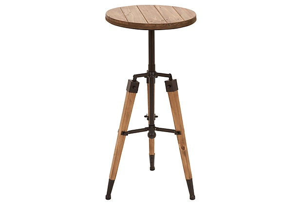 """Metal & Wood 3-Legged Stool  $99.00 - PRODUCT INFORMATION  Made of: wood/metal  Size:14""""L x 14""""W x 30""""H  Color:brown    SHIPPING & RETURNS  Estimated Arrival: Apr 06 - Apr 11    Returns: This item is final sale and non-returnable.    This sale ends on 03/17 at 11am EDT: Accent Tableconstruct, Tableconstruct Materials, Art Crafts, Metals Woods, Tipton Accent, Accent Tables, Bring Visual, Woods Accent, Appeal Products"""