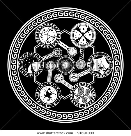 stock vector : Fate wheel
