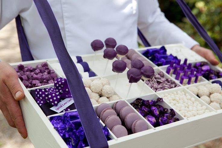 Candybox met paars snoepgoed