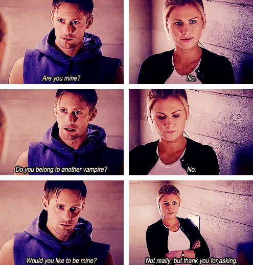 trie blood- eric northman & sookie Stackhouse <-- that hopeful look on his face when he asks if she's his