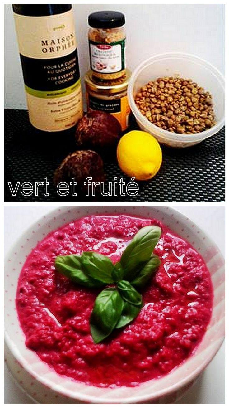 Hummus de lentilles et de betteraves (sans gluten et végan) http://vertetfruite.com/hummus-de-lentilles-et-betteraves-rose-a-souhait/