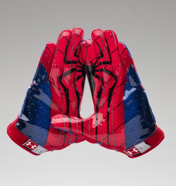 Men's Under Armour® Alter Ego Spider-Man F4 Football Gloves | Under Armour US