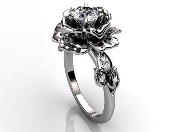 Exceptional Unique Wedding Ring Shaped Like A Rose