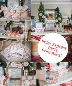Polar Express Party Printables | From food to favors, decor, and the cutest printables you've seen, everything you need to throw the perfect Polar Express Party is here.