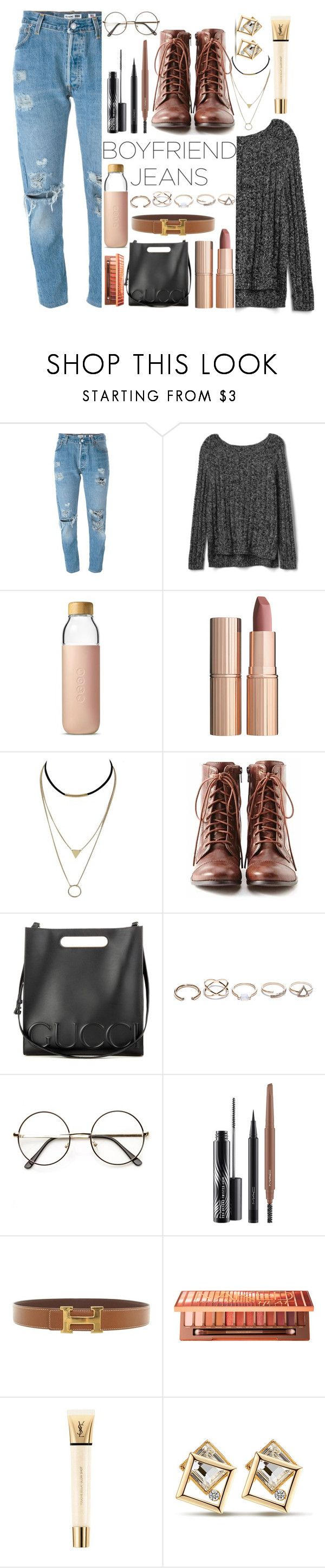 """It's too  cold un México"" by meli111 on Polyvore featuring Levi's, Gap, Soma, Charlotte Tilbury, Liz Claiborne, Gucci, GUESS, MAC Cosmetics, Hermès and Urban Decay"