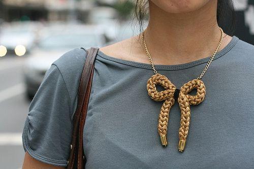 colar tricô metálico | Flickr - Photo Sharing!