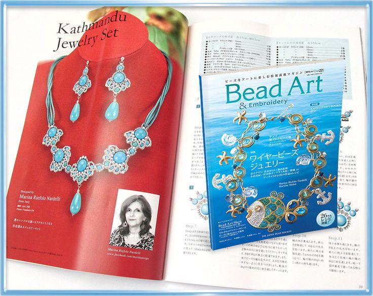 "My ""Kathmandu"" set on the Japanese magazine ""Bead ART"""