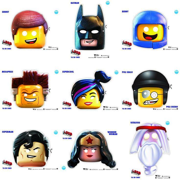 Máscaras de Boing, para imprimirlas, recortar y crear disfraces de La LEGO Película.