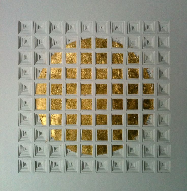 10x10 AuO, 2013, cut paper and 24ct gold