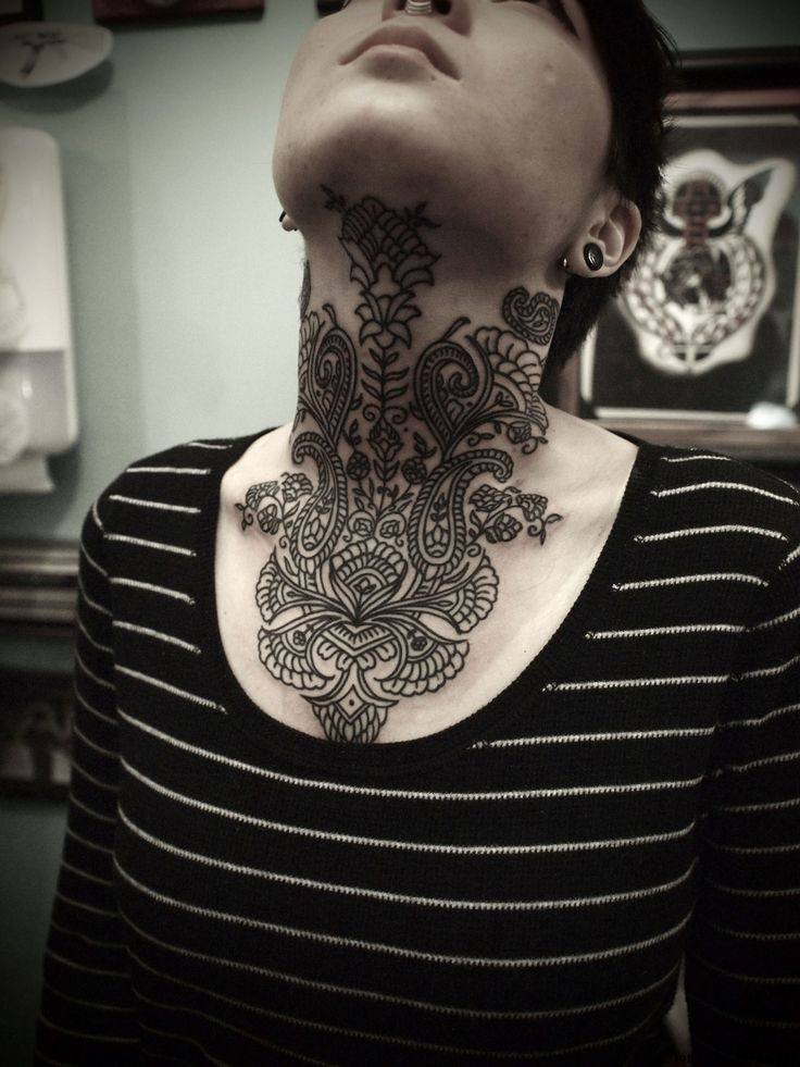 25 best ideas about neck tattoos on back of