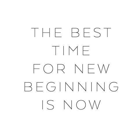 The best time for new beginnings is now ♡ • #mapsandletters_motto